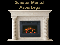 senator mantel with aspis legs