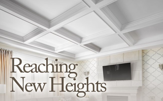 Coffered ceilings are within reach for Foam coffered ceiling
