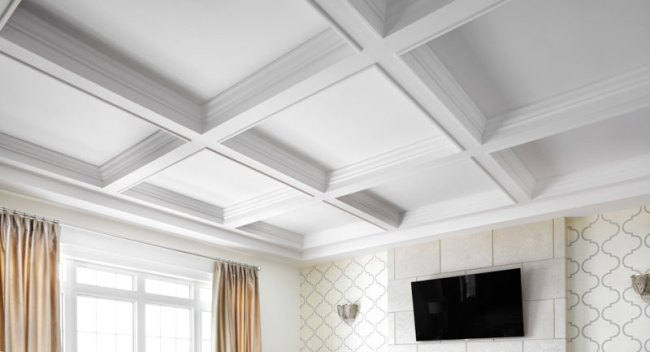 Coffered ceiling by Canamould