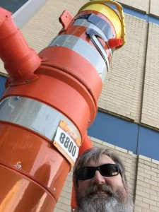 Selfie with Cone Man