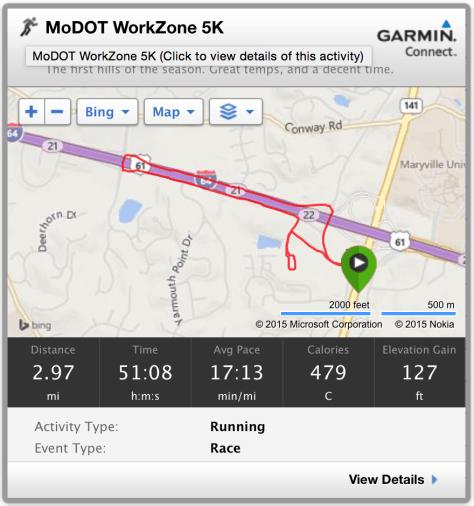 MoDOT Work Zone 5K