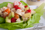 The Best BLT Avocado Chicken Salad Lettuce Cups Featured