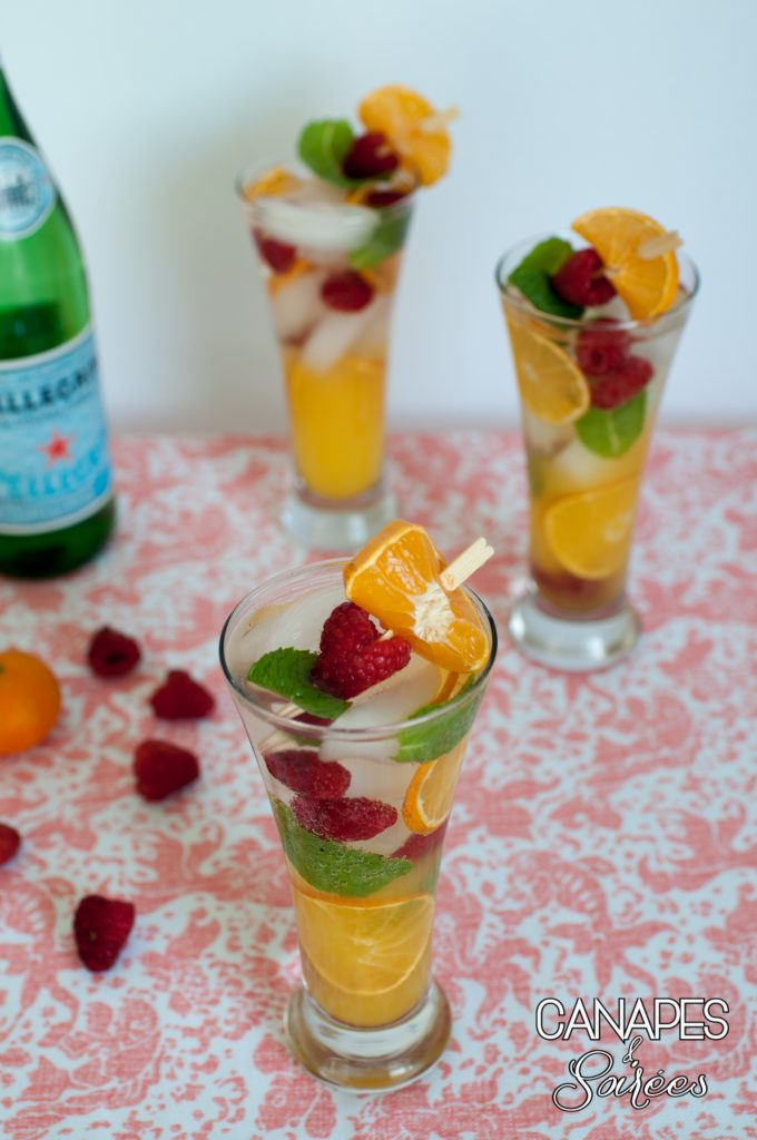 Canapes and Soirees Whole30 Orange Mint Raspberry Spritzers Together