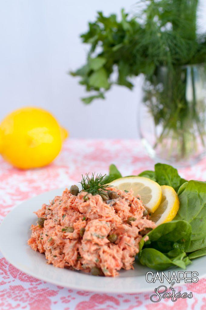 Salmon Salad prepared