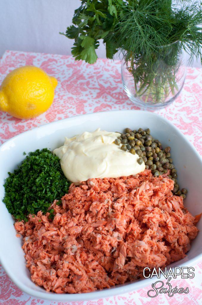 The best salmon salad ingredients in bowl