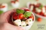 Easy Low Carb Caprese Salad Cup