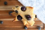 A stack of blueberry scones