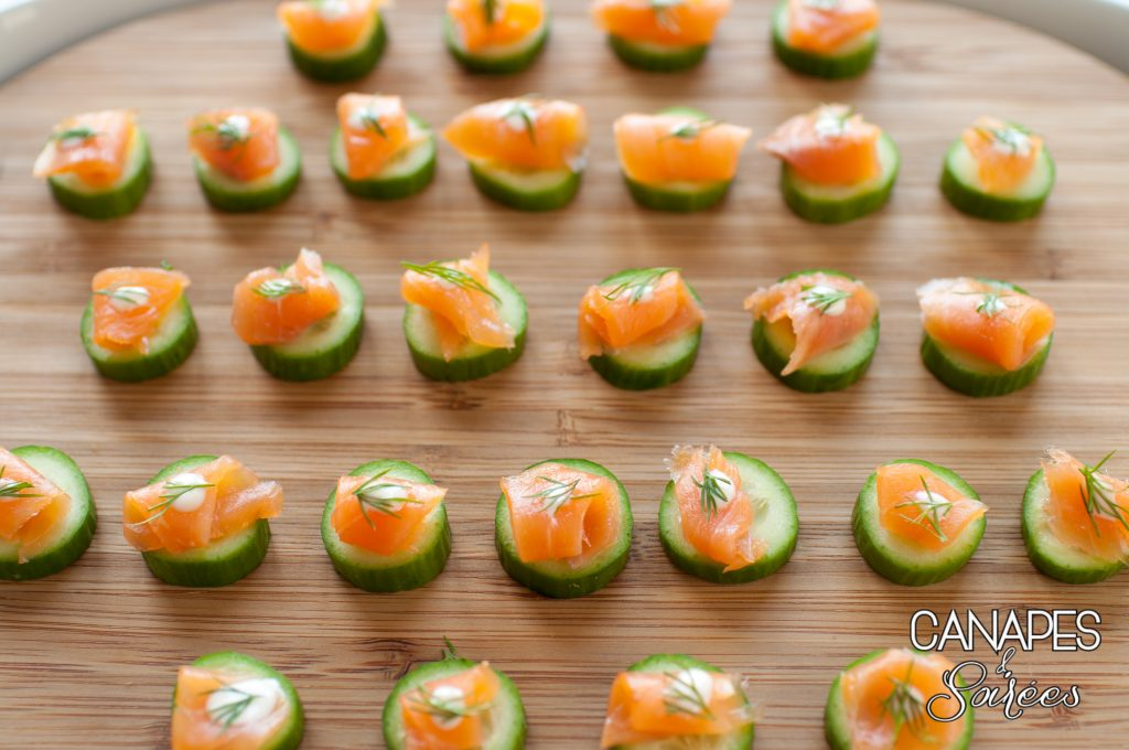 Platter of Smoked Salmon Canapés