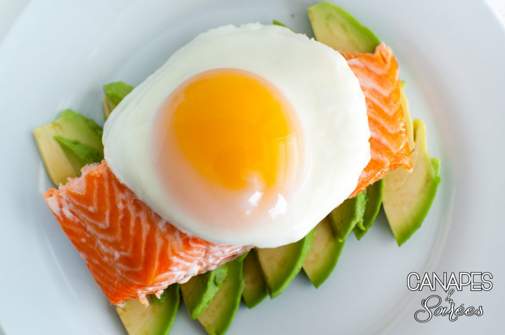 Fried Egg on a Bed of Avocado and Steelhead Trout