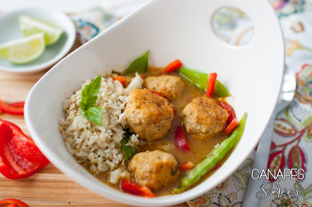 Green Curry Chicken Meatballs Low Carb and Whole30