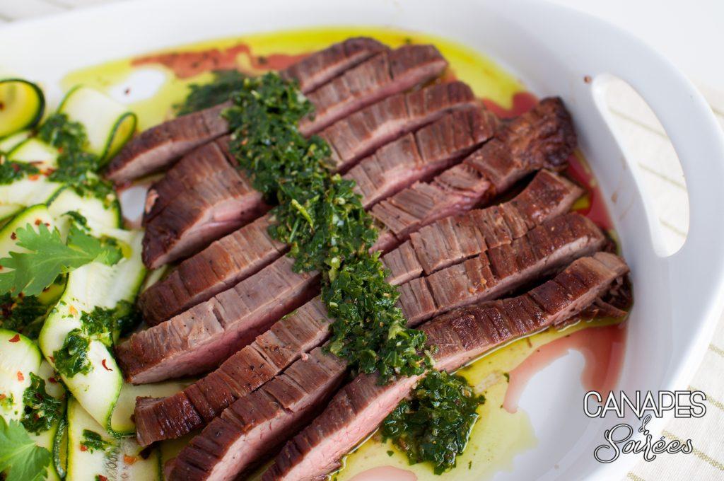 Seared Flank Steak with Chimichurri