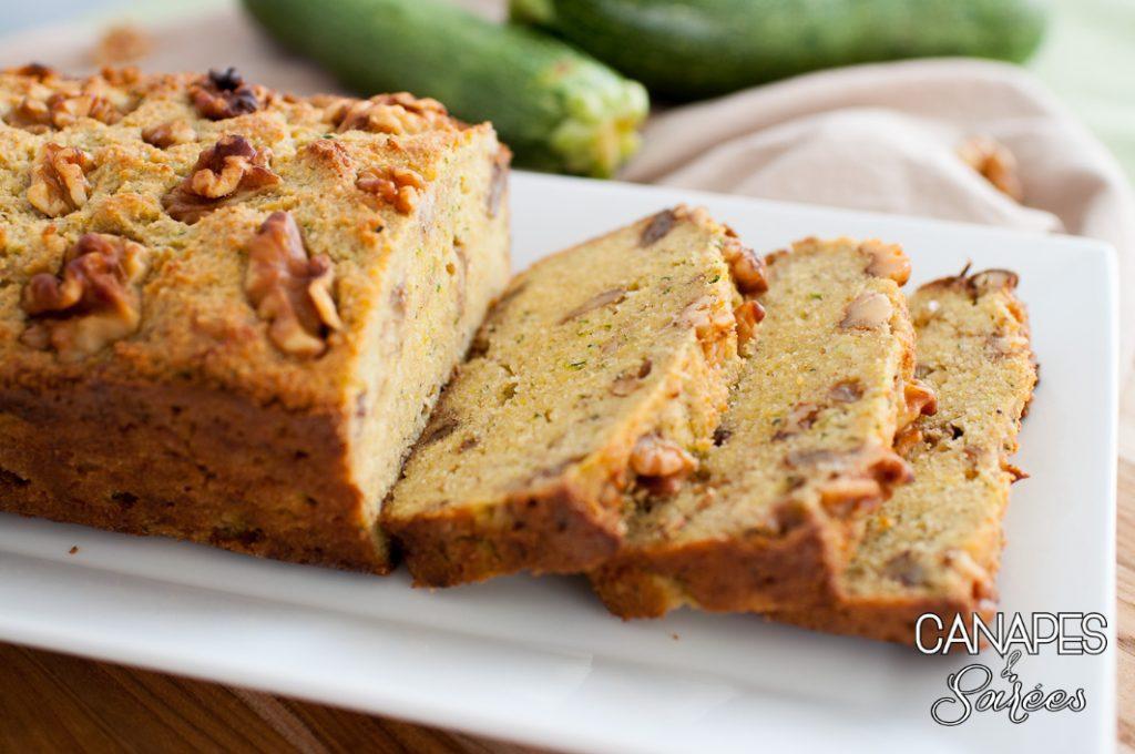 Low Carb Zucchini Walnut Bread-6