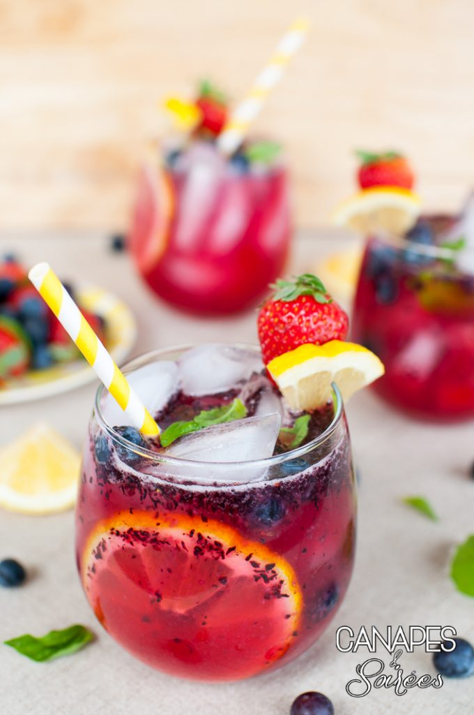 Boozy Berry Basil Lemonade