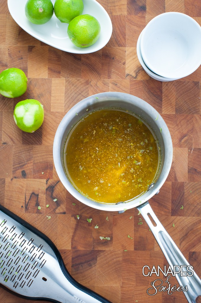 Melted butter for Curry Lime Cashews