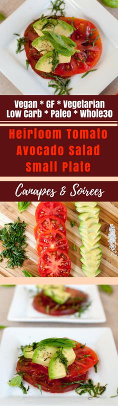 Heirloom Tomato Avocado Salad Small Plate
