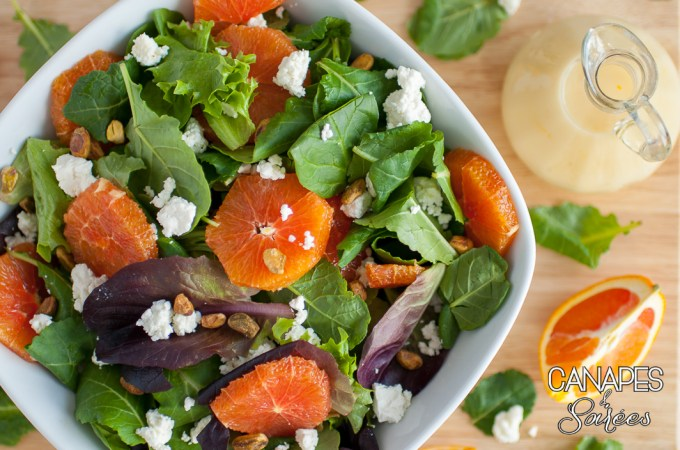 Cara Cara Orange Feta Pistachio Salad with Vinaigrette