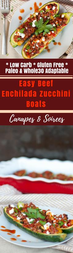 Easy Beef Enchilada Zucchini Boats