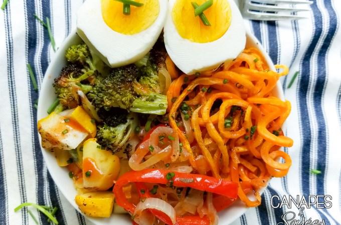 Colorful Vegetarian Power Breakfast Bowl