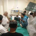 minister R V deshpande visit Hubali balaji hospital (kabadi patu bagu