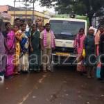 Annigeri purasabhe staff visited haliyal purasabhe