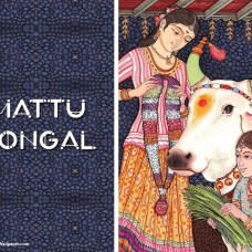 Mattu Pongal - Vaca decorada durante Pongal 2