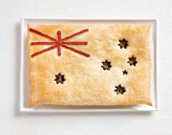 Bandera Australia - Empanada de Carne y Salsa