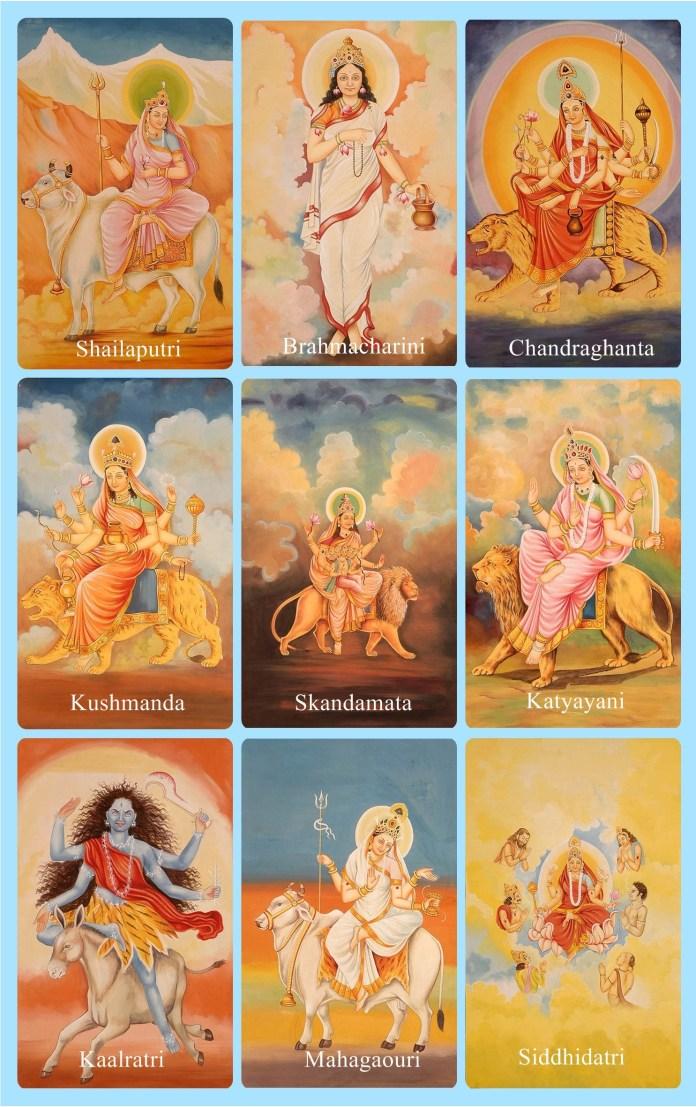 Durga Diosa 9 avatares