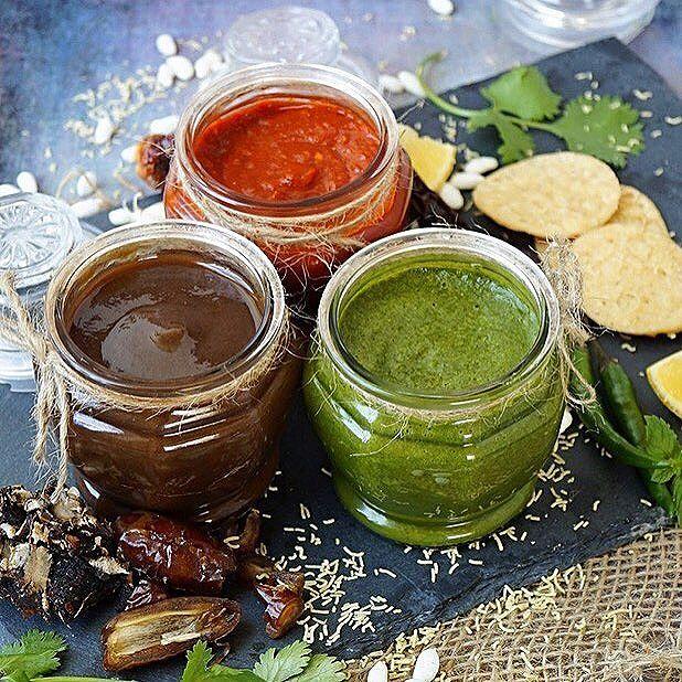 chutney salsas comida india