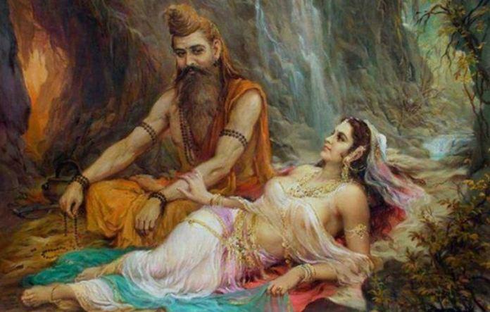 Rey Kaushaka Vishamitra y Menaka