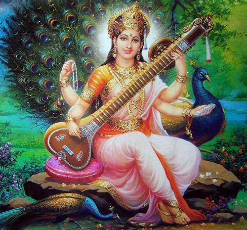 Saraswati Indian Goddess