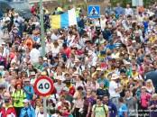 foto peregrinos bajada Virgen del Pino Las palmas de Gran Canaria-
