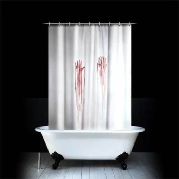 blood bath shower curtain towel