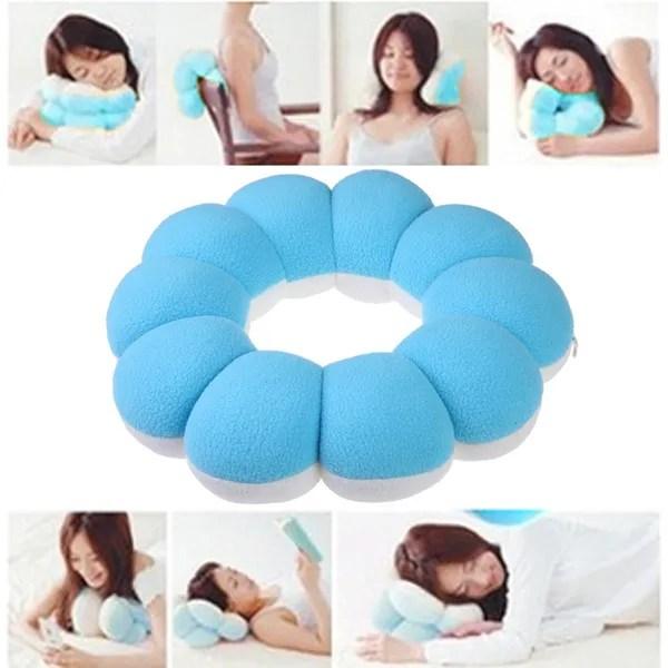 cute donut doughnut shape neck pillow cushion multi functional chair pad afternoon nap sleep cushion neck massager pillow e ch wish