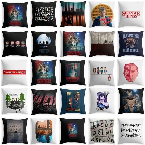 stranger things pillow casenew montauk decorativecushioncover fashion cheap cushion cover decorative pillow case polyester modern home decor sofa