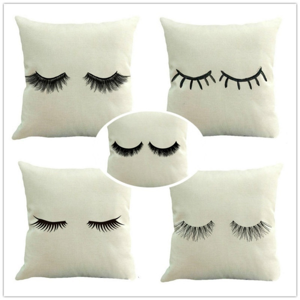 45x45cm funny eyelash cushions covers lips decorative throw pillow cover lashes pillows cases home decor wish