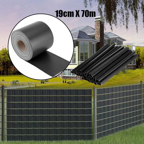 19cm x 70m pvc fireproof fence patio balcony privacy screen cover with 20pcs clips wish