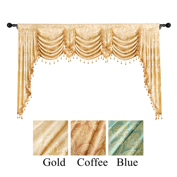damask curtain valance for window european royal luxury swags valance curtains for living room jacquard window curtains for bedroom valance for