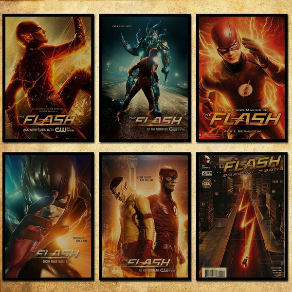 new 1 pcs 18 kind dc hero the flash poster kraft paper wallpaper decoration for the bedroom hall 42 x 29 7cm 11 6 16 5 inch wish