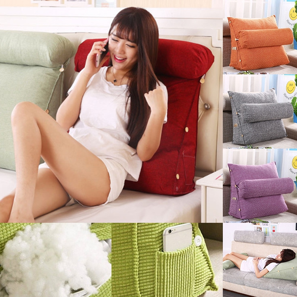 adjustable office rest neck waist support lounger bed rest back pillow support tv reading soft bed sofa cushion wish