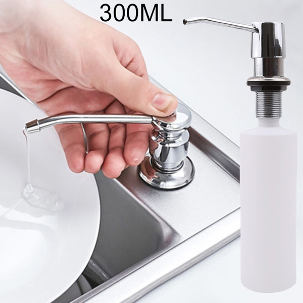 300ml soap dispenser kitchen sink faucet bathroom shower shampoo pump wish