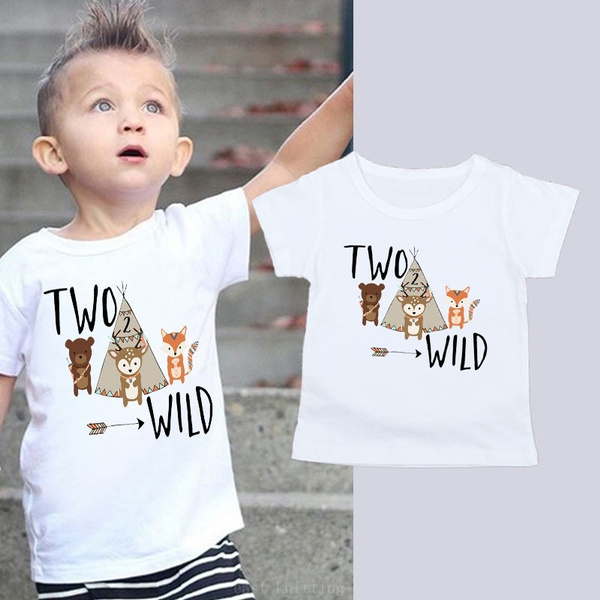 Birthday Boy Shirt Second Birthday Shirt 2nd Birthday Shirt Two Wild Shirt Woodland Birthday Shirt Boho Birthday Shirt Toddler Boy Top Wish