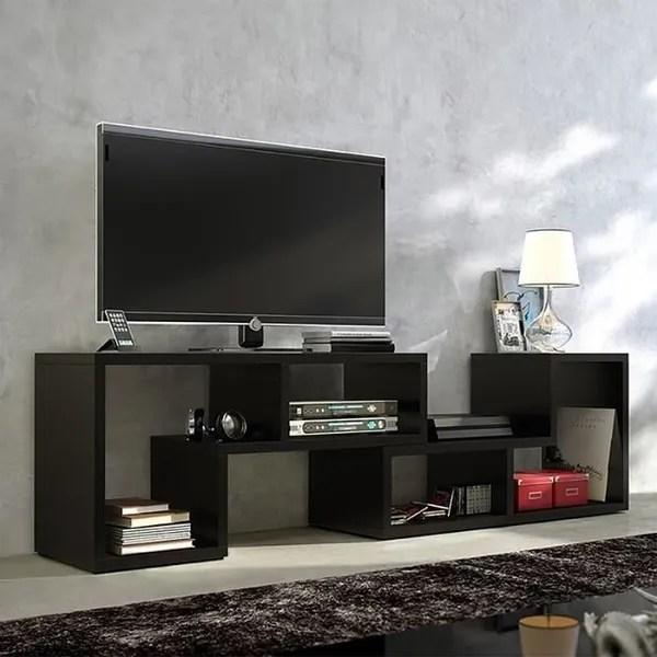 meuble tv table basse bibliotheque collect 3 en 1 123 150 cm noir blancmat style fr wish