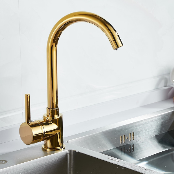 luxury gold kitchen faucet gold brass for cold and hot mixer tap sink faucet vegetable washing basin brushed brass wish