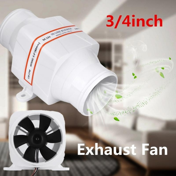 3 4 inch inline duct fan exhaust blower high cfm ventilation cool vent wish