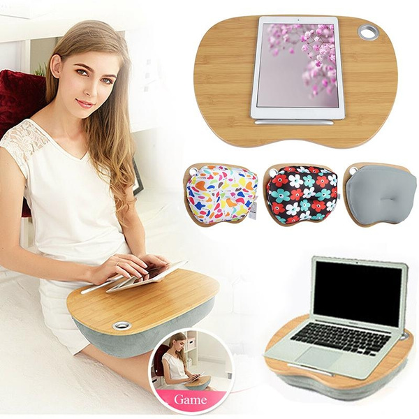 portable desk tray knee laptop cushion adjustable bed notebook home office pillow wish