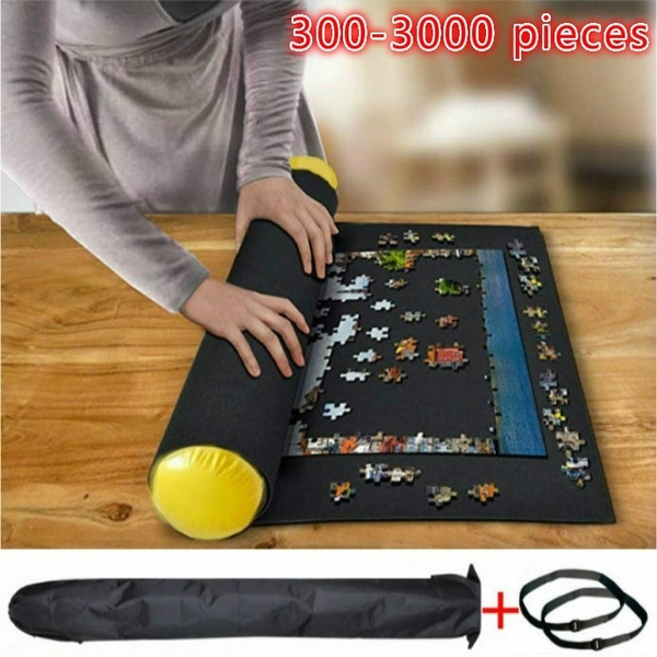 puzzle mat roll up jigsaw puzzle pad puzzle storage felt mat puzzles saver fits up to 300 3000 pieces wish