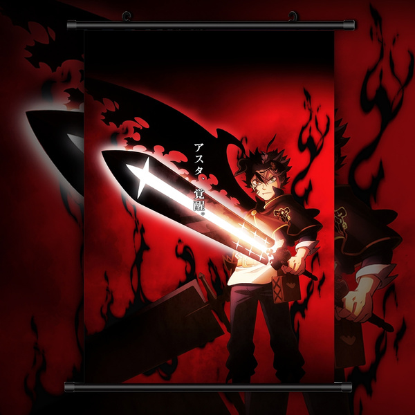 asta black clover anime hd print wall art poster scroll home decoration wish