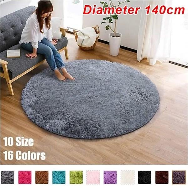 diameter 140cm luxury round area rugs super soft living room bedroom carpet woman yoga mat 16 colors tapis salon alfombras quarto alfombras de sala
