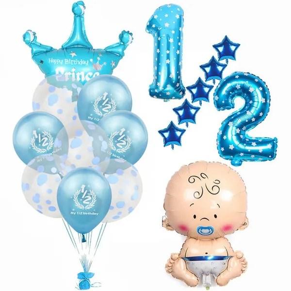 1 Set Baby Shower Boy Girl Foil Balloon My 1 2 Birthday Balloons Kids Half Birthday Party Decoration Supplies Boy Girl Foil Balloon My 1 2 Birthday Balloons Kids Half Birthday Party Decoration Supplies Wish