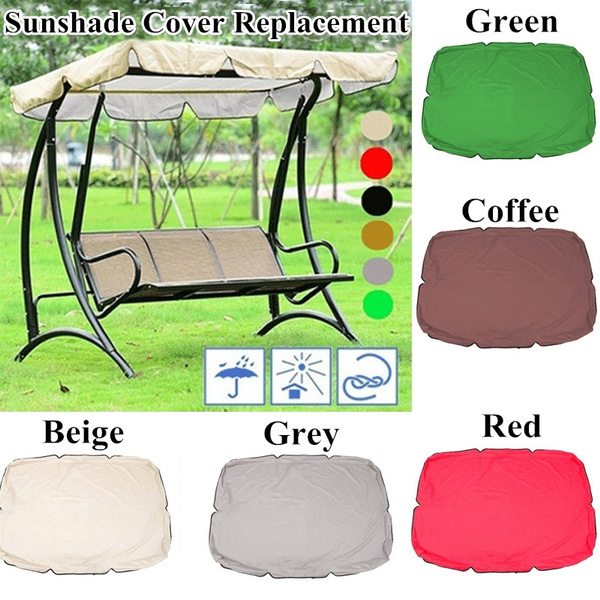 6 colors sunshade cover outdoor garden patio swing canopy seat top cover replacement not including chair wish